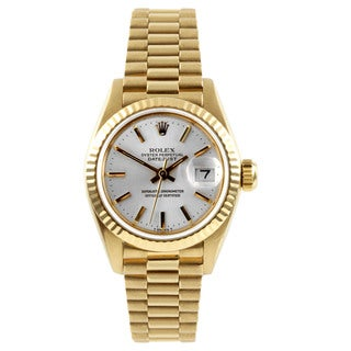 Pre-Owned Rolex Women's President Yellow Gold Fluted Bezel Automatic Watch
