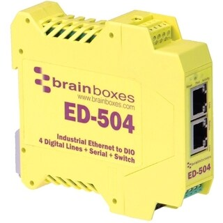 Brainboxes ED-504 Ethernet to Digital IO + Serial + Switch