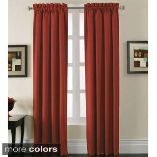 Stockton Woven Blackout Rod-pocket Curtain Panel Pair