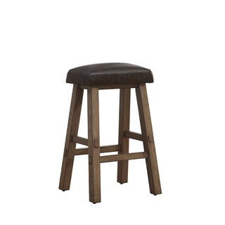 Turin Bar Stool in Weathered Oak