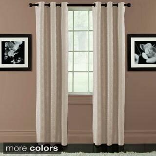 Arista Diamond Jacquard Blackout Grommet-top Curtain Panel Pair
