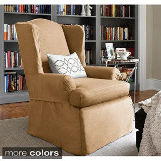 Bayside One-piece Relaxed Fit Wrap Wing Chair Slipcover