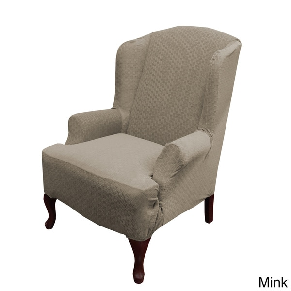 Piccadilly One-piece Stretch Wing Chair Slipcover - 16479997