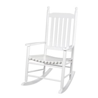 Gift Mark Home Kids Adult Tall Back White Rocking Chair