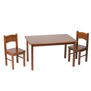 Gift Mark Natural Hardwood Rectangle Cherry Table and Chair Set