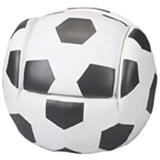 Gift Mark Child's Upholstered Soccer Sports Chair with Ottoman