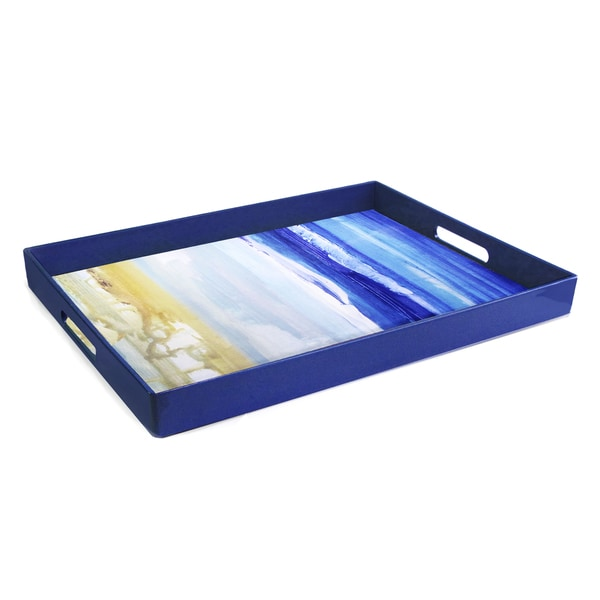 Blue Art Rectangular Tray
