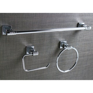 3-piece Polished Chrome Bathroom Accessory Set