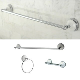 Victorian 3-piece Polished Chrome Bathroom Accessory Set