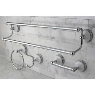 Victorian 4-piece Polished Chrome Bathroom Accessory Set