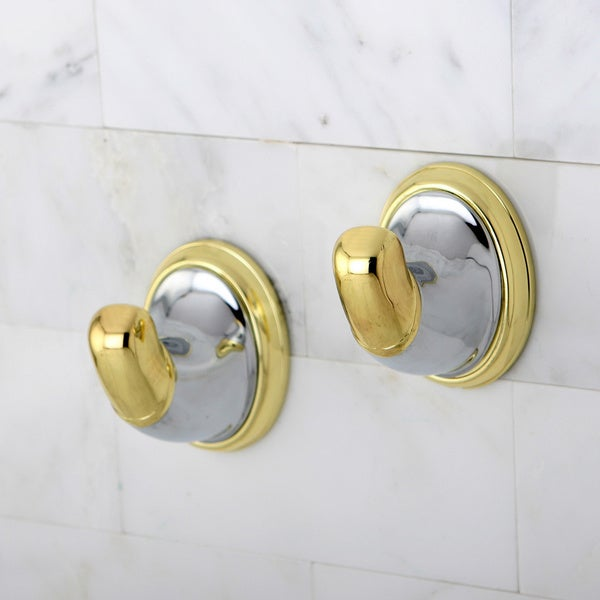 Chrome/ Polished Brass Robe Hook (Set of 2)