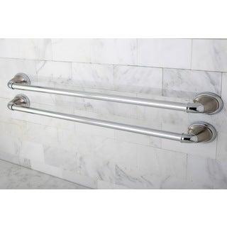 Satin Nickel/ Polished Chrome 24-inch Towel Bar (Set of 2)