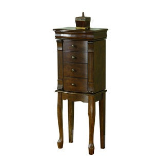 Powell Louis Philippe Walnut Jewelry Armoire with Queen Anne Legs
