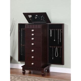Powell 7-drawer Merlot Jewelry Armoire