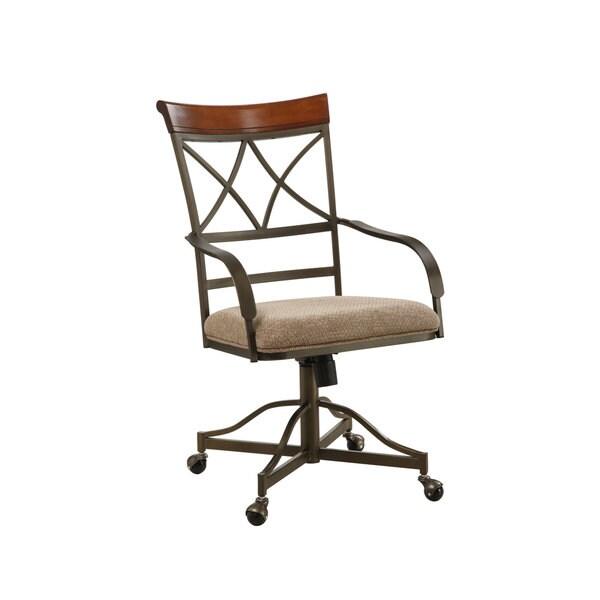 Powell Hamilton Swivel-Tilt Castered Dining Arm Chairs (Set of 2)