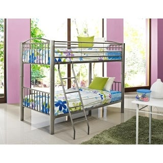 Powell Heavy Metal Pewter Twin-over-Twin Bunk Bed