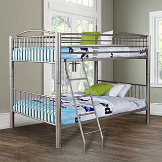Powell Heavy Metal Pewter Full-over-Full Bunk Bed