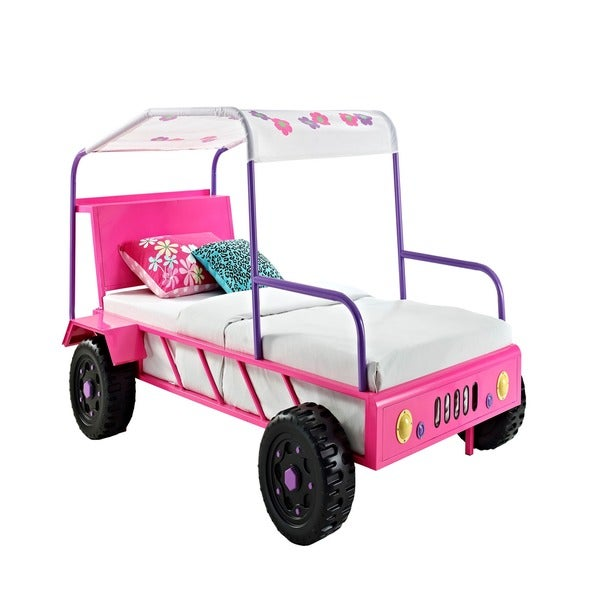 Powell Pink/ Purple Twin Girls Buggy Bed