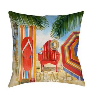 Thumbprintz Beach Medley Throw/ Floor Pillow