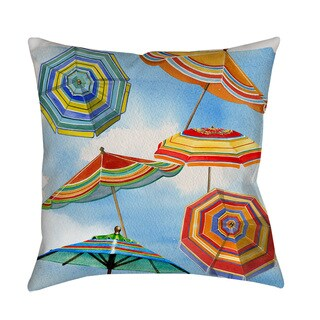 Thumbprintz Blue Skies Umbrellas Throw/ Floor Pillow