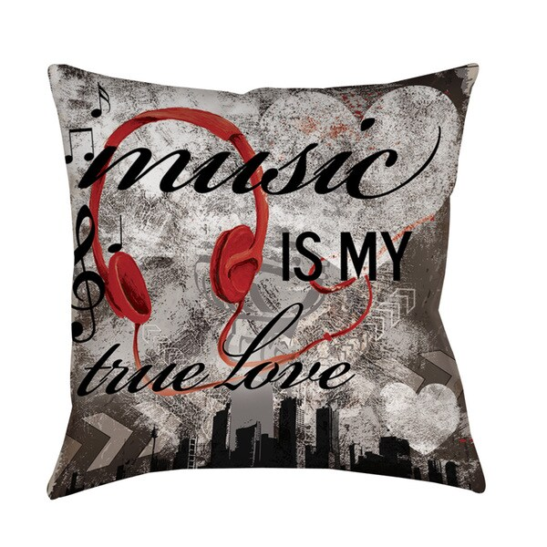 Thumbprintz Music is My True Love Throw/ Floor Pillow