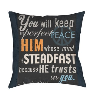 Thumbprintz In Perfect Peace Throw/ Floor Pillow