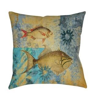 Thumbprintz Caribbean Cove V Throw/ Floor Pillow