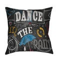 Thumbprintz Chalkboard Dance in the Rain Throw/ Floor Pillow