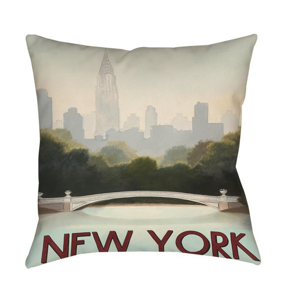 Thumbprintz City Skyline New York Floor Pillow