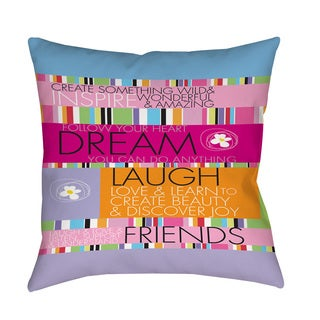 Thumbprintz Create something wild Floor Pillow