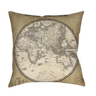 Thumbprintz French World Map II Floor Pillow