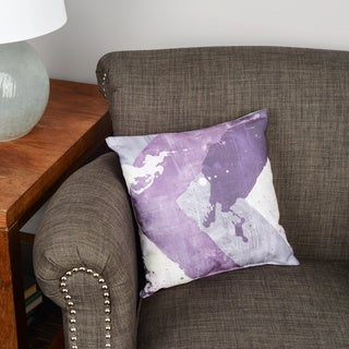 Thumbprintz Splatter No I Purple Floor Pillow