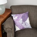 Thumbprintz Splatter No I Purple Floor Pillow