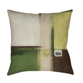 Thumbprintz Green Field I Floor Pillow