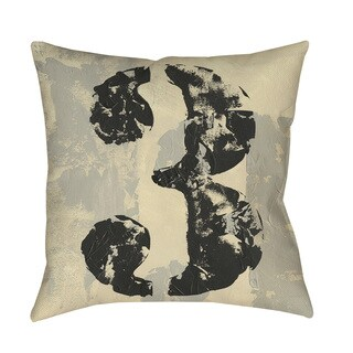 Thumbprintz Vintage Numbers III Floor Pillow