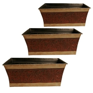 Wald Imports Lined Metal Planters (Set of 3)