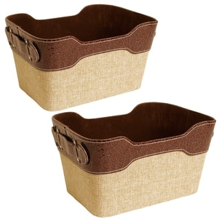 Wald Imports 11-inch Paperboard Tote (Set of 2)