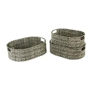Wald Imports Sizzle Weave Basket (Set of 3)
