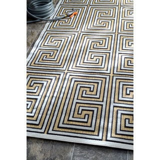 nuLOOM Indoor/ Outdoor Greek Key Porch Rug (5' x 8')