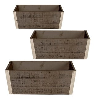 Wood Planter (Set of 3)