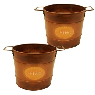 9-inch Round Metal Container (Set of 2)
