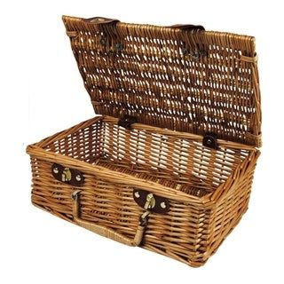 Wald Imports 13-inch Willow Picnic Basket
