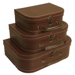 Brown Suitcases (Set of 3)