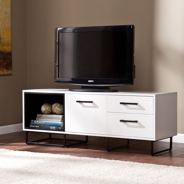 Upton Home White with Black Merrick Media Console