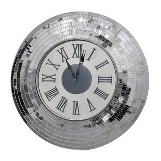Kythira Silver Wall Clock