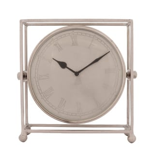 Dell Historia Antique Nickel Cage Clock