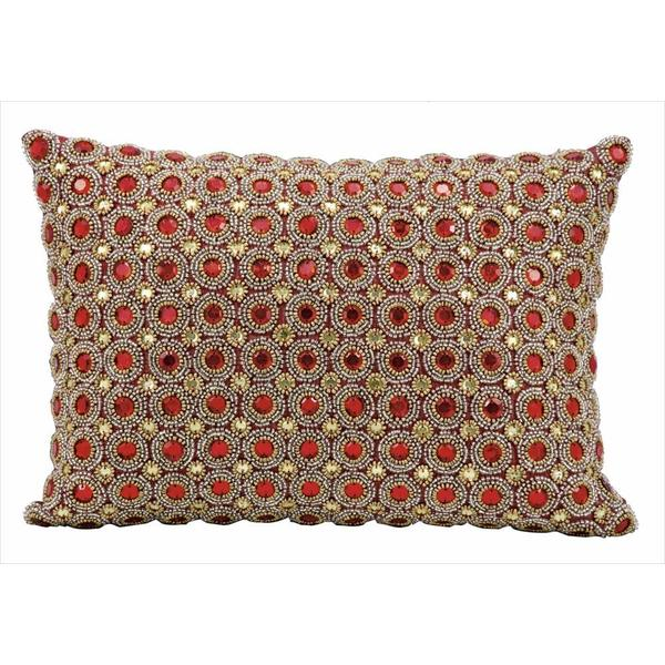 Nourison Kathy Ireland Ruby Beaded Throw Pillow