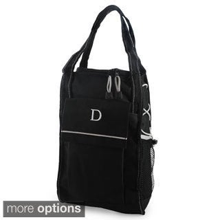 Personalized Black Insulated Wine Cooler Tote