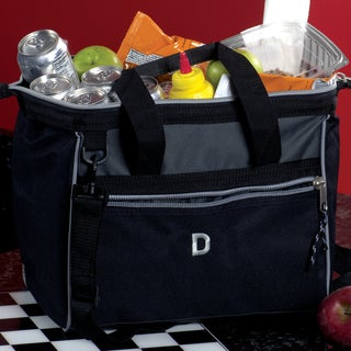Personalized Black Deluxe Picnic Cooler with Removable Shoulder Strap