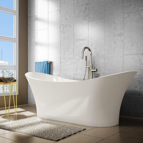 White Free-standing Symmetrical Evita Bathtub